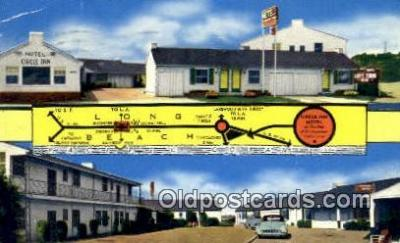 MTL001783 - Circle Inn Motel, Long Beach, CA, USA Motel Hotel Postcard Post Card Old Vintage Antique