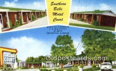 MTL001797 - Southern Belle Motel Court, Centreville, AL, USA Motel Hotel Postcard Post Card Old Vintage Antique