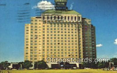 MTL001832 - Shamrock Hilton, USA Motel Hotel Postcard Post Card Old Vintage Antique