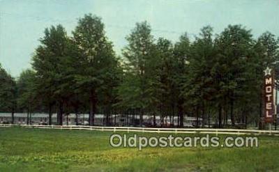 MTL001860 - Five Star Motel, Greenup, IL, USA Motel Hotel Postcard Post Card Old Vintage Antique