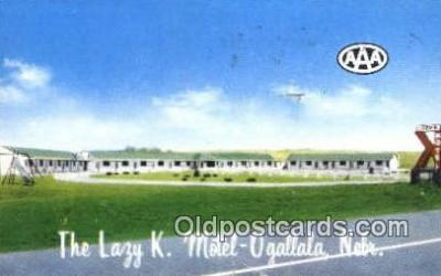 MTL001867 - Lazy K. Motel, Ogallala, NE, USA Motel Hotel Postcard Post Card Old Vintage Antique