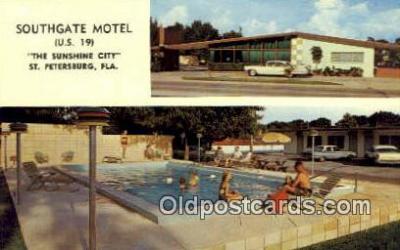 MTL001874 - Southgate Motel, St. Petersburg, FL, USA Motel Hotel Postcard Post Card Old Vintage Antique