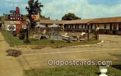 MTL001883 - Bailey's Lakeview Motel, USA Motel Hotel Postcard Post Card Old Vintage Antique