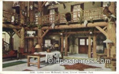 MTL001892 - McDonald Hotel, Glacier National Park, USA Motel Hotel Postcard Post Card Old Vintage Antique
