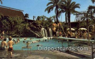 MTL001894 - Polynesian Village Motel Hotel Postcard Post Card Old Vintage Antique