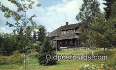 MTL001899 - Saddleback Lake Lodge, Rangeley, ME, USA Motel Hotel Postcard Post Card Old Vintage Antique