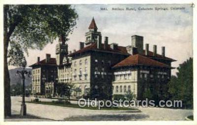 MTL001915 - Antlers Hotel, CO Springs, CO, USA Motel Hotel Postcard Post Card Old Vintage Antique