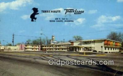 MTL001936 - Terre Haute Travelodge, Terre Haute, IN, USA Motel Hotel Postcard Post Card Old Vintage Antique
