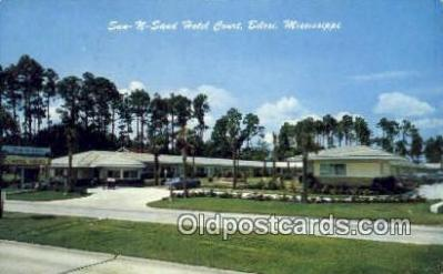 MTL001938 - Sun N Sand Hotel Court, Bilori, MS, USA Motel Hotel Postcard Post Card Old Vintage Antique