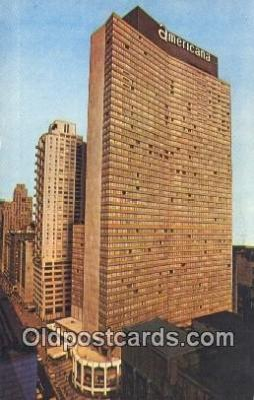 MTL011044 - Americana, New York, NY USA Hotel Postcard Motel Post Card Old Vintage Antique