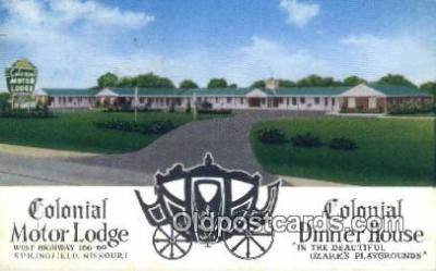 MTL011053 - Colonial Motor Lodge, Springfield, Massachusetts, MA USA Hotel Postcard Motel Post Card Old Vintage Antique