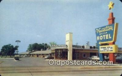 MTL011056 - Vacation Motor Hotel, Clarksville, Tennessee, TN USA Hotel Postcard Motel Post Card Old Vintage Antique