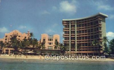 MTL011059 - Royal Hawaiian Hotel, Waikiki, Hawaii, HI USA Hotel Postcard Motel Post Card Old Vintage Antique
