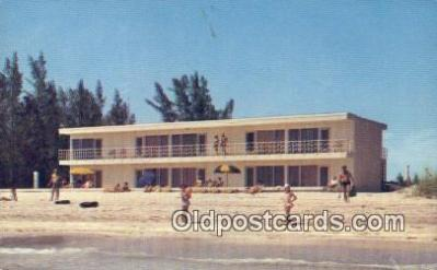 MTL011066 - Sea Star Resort Beach Motel, Englewood, Florida, FL USA Hotel Postcard Motel Post Card Old Vintage Antique