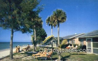 MTL011110 - Holiday Villas, Belleair Beach, Florida, FL USA Hotel Postcard Motel Post Card Old Vintage Antique