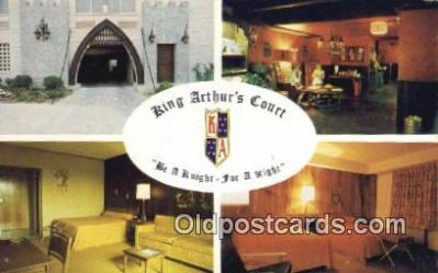 MTL011113 - King Arthurs Court, Washington DC, USA Hotel Postcard Motel Post Card Old Vintage Antique