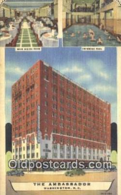 MTL011134 - The Ambassador, Washington DC, USA Hotel Postcard Motel Post Card Old Vintage Antique