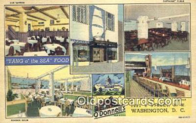 MTL011168 - O'Donnells, Washington DC, USA Hotel Postcard Motel Post Card Old Vintage Antique