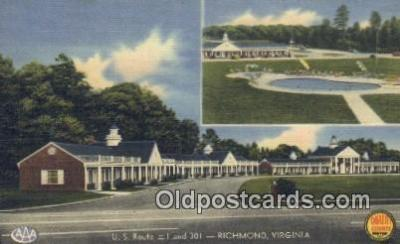 MTL011175 - Quality Courts United, Richmond, Virginia, VA USA Hotel Postcard Motel Post Card Old Vintage Antique