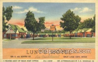 Lunts Motel, Salt Lake City, Utah, UT USA
