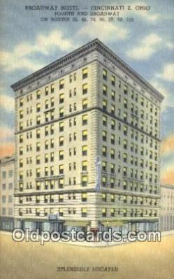 Broadway Hotel, Cincinnati 2, Ohio, OH USA