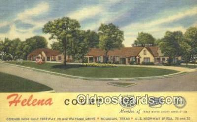 MTL011239 - Helena Court, Houston, Texas, TX USA Hotel Postcard Motel Post Card Old Vintage Antique