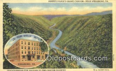 MTL011262 - Penn Wells Hotel, Wellsboro, Pennsylvania, PA USA Hotel Postcard Motel Post Card Old Vintage Antique