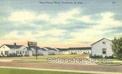 West Plains Motel, Dickson, North Dakota, ND USA