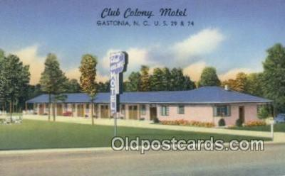 Club Colony Motel, Gastonia, North Carolina, NC USA