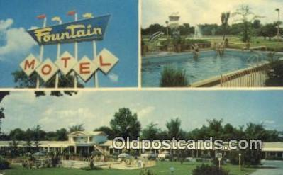 MTL011304 - Fountain Motel, Paducah, Kentucky, KY USA Hotel Postcard Motel Post Card Old Vintage Antique
