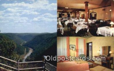MTL011308 - Penn Wells Hotel, Wellsboro, Pennsylvania, PA USA Hotel Postcard Motel Post Card Old Vintage Antique