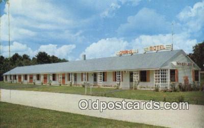 MTL011309 - Wheeler Motel Hotel Postcard Motel Post Card Old Vintage Antique