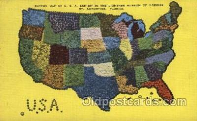 map001090 - Map of USA Map, Maps Postcard Postcards