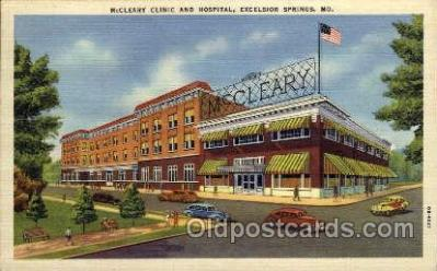 med100032 - McCleary Clinic & Hospital, Excelsior Springs, MO. USA, Medical Hospital Postcard Postcards