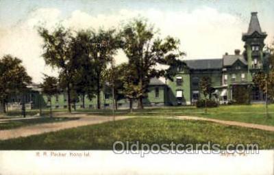 med100041 - R.A. Packer Hospital, Sayre, Pennsylvania,  PA, USA, Medical Hospital Postcard Postcards