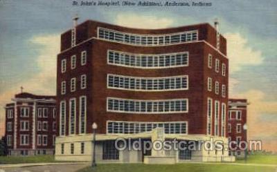 med100051 - St. John's Hospital, Anderson, Indiana, Medical Hospital Postcard Postcards