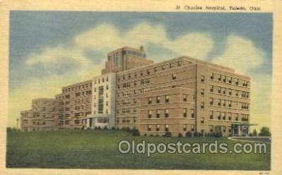 med100216 - St. Charles Hospital, Toledo, OH Medical Hospital, Sanitarium Postcard Postcards