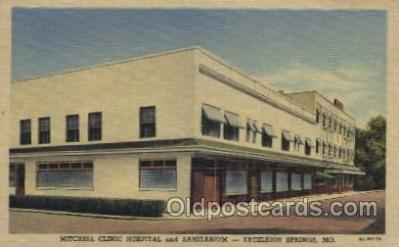 med100341 - Mitchell Clinic Hospital and Sanitarium Excelsior Springs, Mo, USA Hospital, Hospitals Postcard Postcards