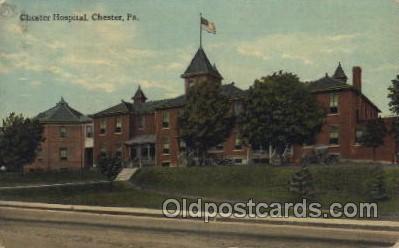 med100375 - Chester Hospital,Chester, Pa., USA Hospital, Hospitals Postcard Postcards