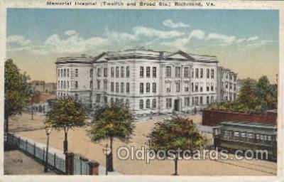 med100385 - Memorial Hospital, Clarksville, Tenn, USA Hospital, Hospitals Postcard Postcards