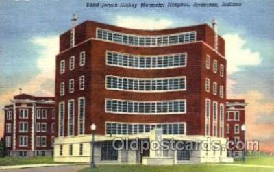 med100416 - Saint John's Hickey Memorial Hospital Anderson, IN, USA Postcard Post Cards Old Vintage Antique