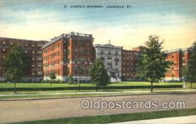 med100419 - St Joseph's Infirmary Louisville, KY, USA Postcard Post Cards Old Vintage Antique