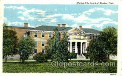 med100471 - Marion City Hospital Marion, OH, USA Postcard Post Cards Old Vintage Antique