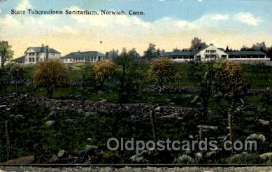 med100478 - State Tuberculosis Sanitarium Norwich, CT, USA Postcard Post Cards Old Vintage Antique