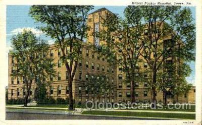med100480 - Robert Packer Hospital Sayre, PA, USA Postcard Post Cards Old Vintage Antique