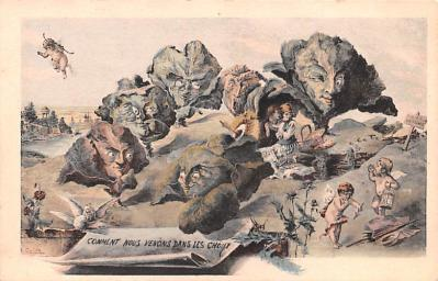 met001143 - Metamorphic Post Card, Old Vintage Antique Postcard
