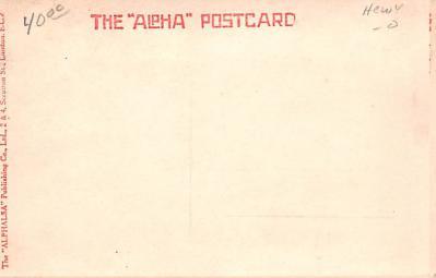 met001161 - Metamorphic Post Card, Old Vintage Antique Postcard  back
