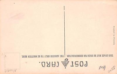 met001249 - Metamorphic Post Card, Old Vintage Antique Postcard  back