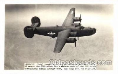 mil000122 - B-24, Liberator, Military Airplane Postcard Postcards