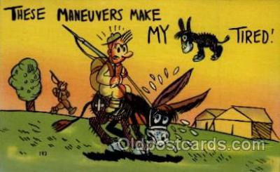 mil001025 - Military Comic Postcard Postcards